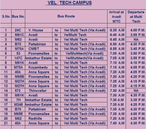 MTC-Schedule